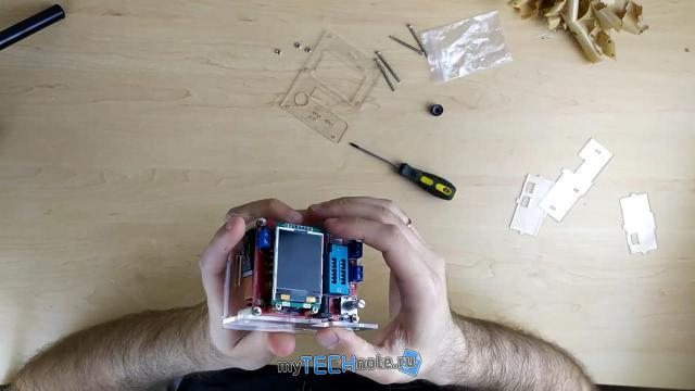 Транзистор тестер M328 – сборка и обзор [DIY] - корпус собирать - не удобно