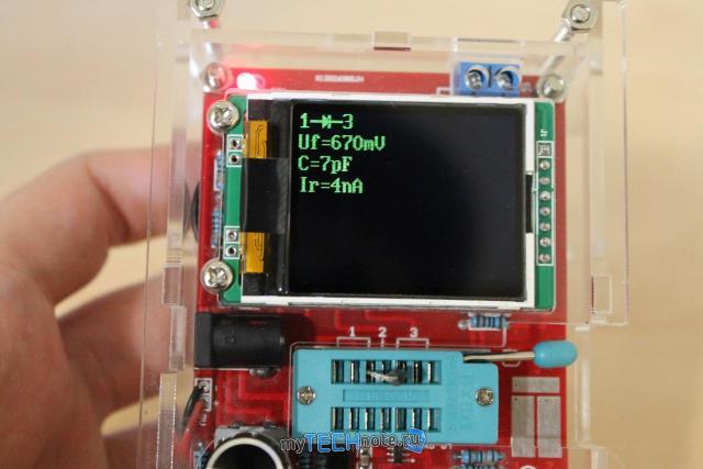 Транзистор тестер M328 – сборка и обзор [DIY] - проверка диода