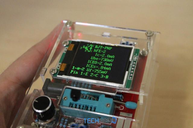 Транзистор тестер M328 – сборка и обзор [DIY] - вставил ИК датчик