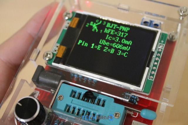 Транзистор тестер M328 – сборка и обзор [DIY] - проверка транзистора