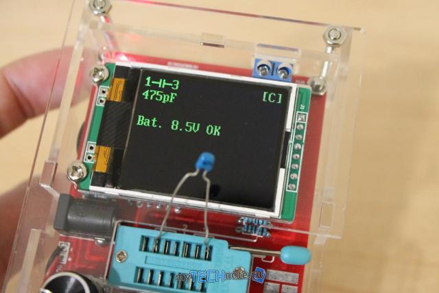 Транзистор тестер M328 – сборка и обзор [DIY] - проверка конденсатора