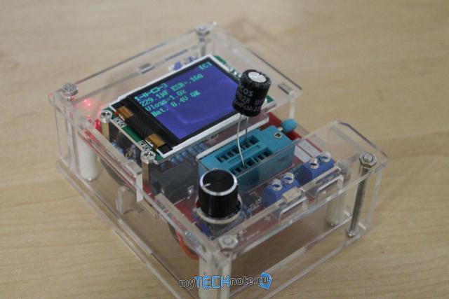 Транзистор тестер M328 – сборка и обзор [DIY] - проверка электролитического конденсатора
