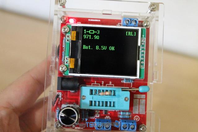 Транзистор тестер M328 – сборка и обзор [DIY] - проверка резистора